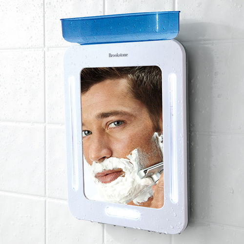 heated shower mirror
