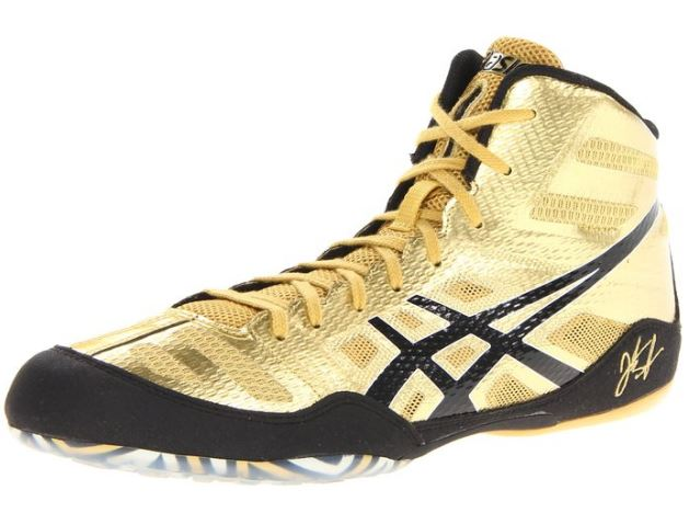asics gold wrestling shoes