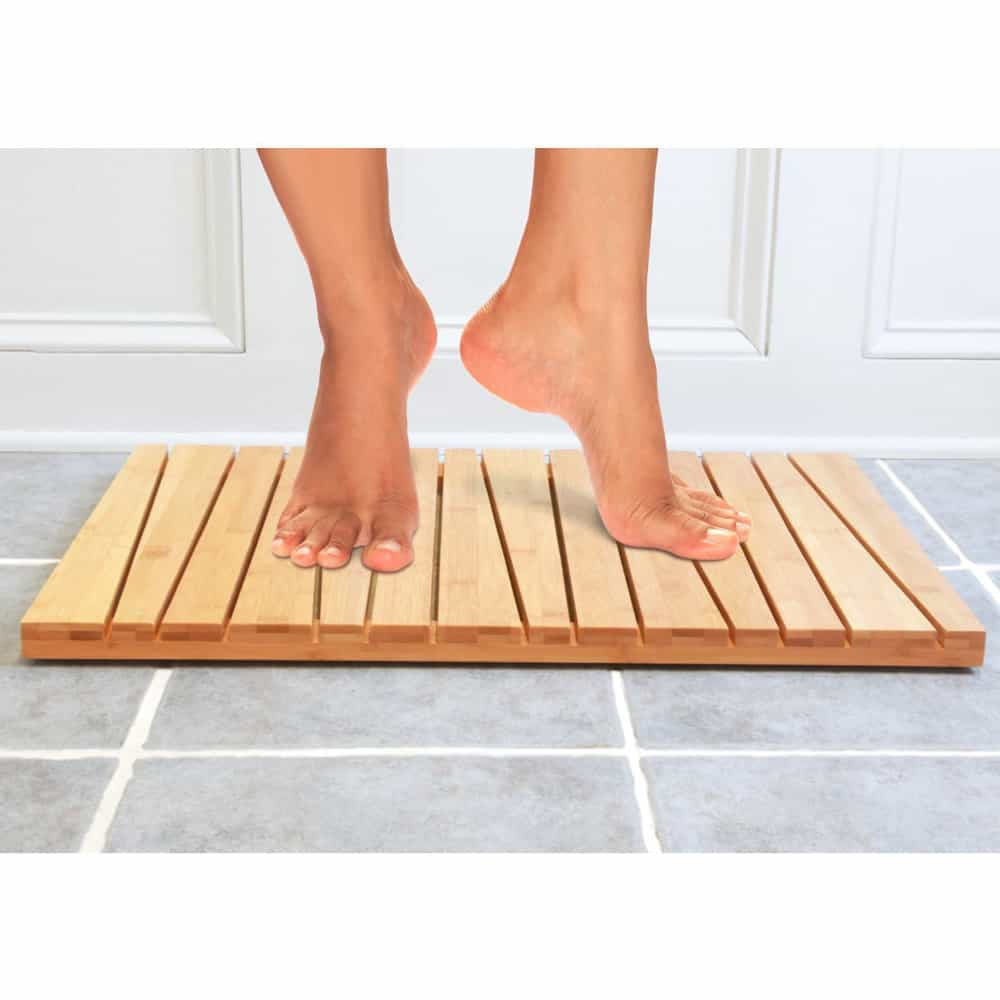 Best Bamboo Wood Bath Mat